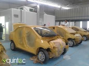Cabina de pintura para pintar taxis