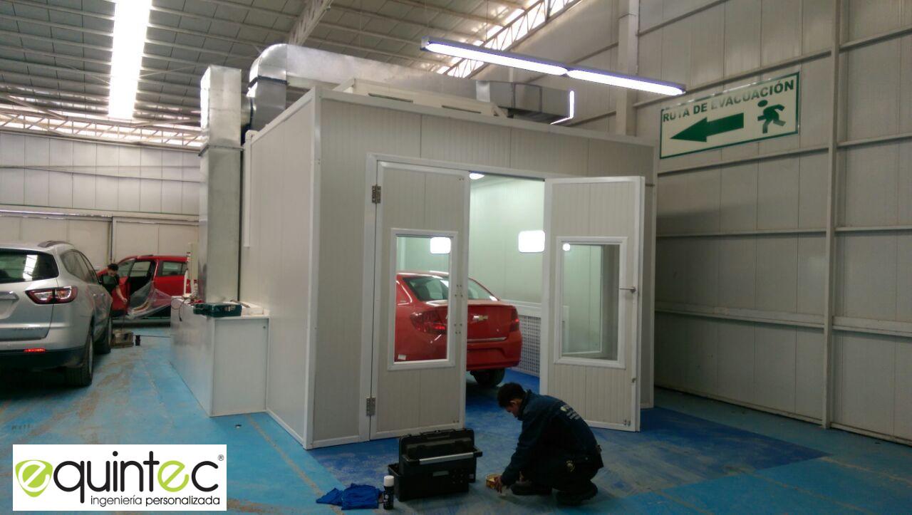 Fabrica cabinas de pintura de acabado perfecto equintec ltda - Cabina de pintura coches ...